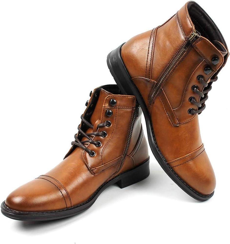 Men's Ankle Dress Boots Cap Toe Lace Up
