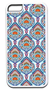 Ornate Paisley- Case for the APPLE IPHONE 6 ONLY!!!-NOT COMPATIBLE WITH THE IPHONE 6 PLUS!!!-Hard White Plastic Outer Case