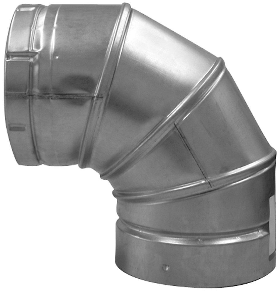 Speedi-Products BV-A90 05 5-Inch B-Vent 90 Degree Round Adjustable Elbow