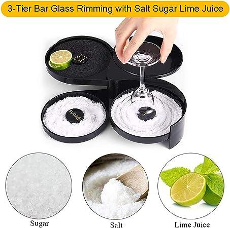WinCo Gr-3 Black 3-tier Glass Rimmer Salt Sugar Lime Juice Home Bar for sale online