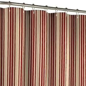 Amazon Maytex Sorrento Stripe Fabric Shower Curtain