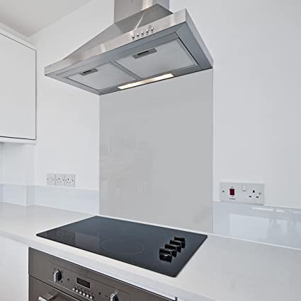 Gris cocina cristal Splashback por colour2glass – 6 mm de espesor resistente al calor vidrio de cocina templado Splashbacks 600 x 750mm gris: Amazon.es: Grandes electrodomésticos