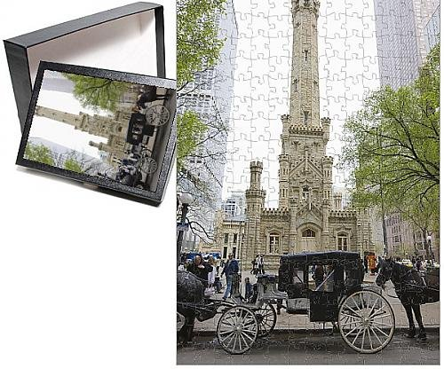 Historic Water Tower (Photo Jigsaw Puzzle of The Historic Water Tower, North Michigan Avenue, Chicago, Illinois,)