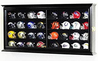 product image for 32 Pocket Pro Mini Helmet Display Case Cabinet Holders Rack w/UV Protection