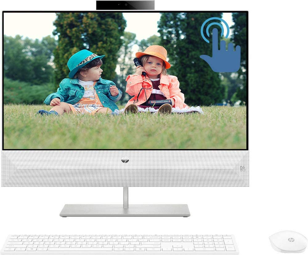 "HP Pavilion 24 All in One Desktop Computer, Intel Six-Core i5-8400T 1.7GHz, 23.8"" FHD IPS Touchscreen Display, 16GB DDR4 256GB PCIe SSD, USB-C WiFi BT 4.2 FHD Camera Wireless Keyboard&Mouse Win 10"