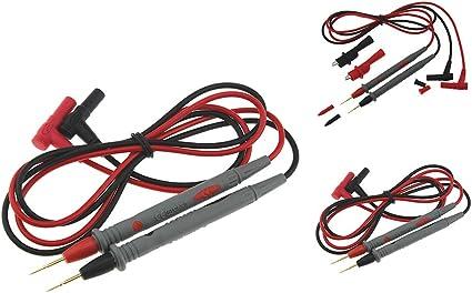 Uzinb PT1005 1000V 10A Universal mult/ímetro Digital de la sonda Cables de Prueba Pin de Punta de Aguja Multi probador del Metro de Cable de la sonda de Alambre Pluma de Cable