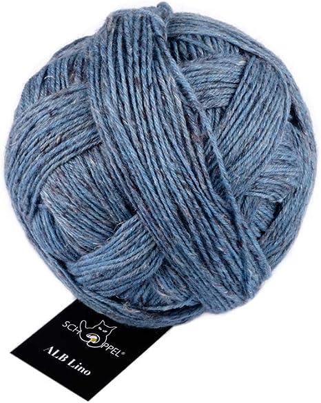 ALB Lino 100g  Schoppel  Lambswool v der Schwäbischen Alb 4201M Blau Mélange