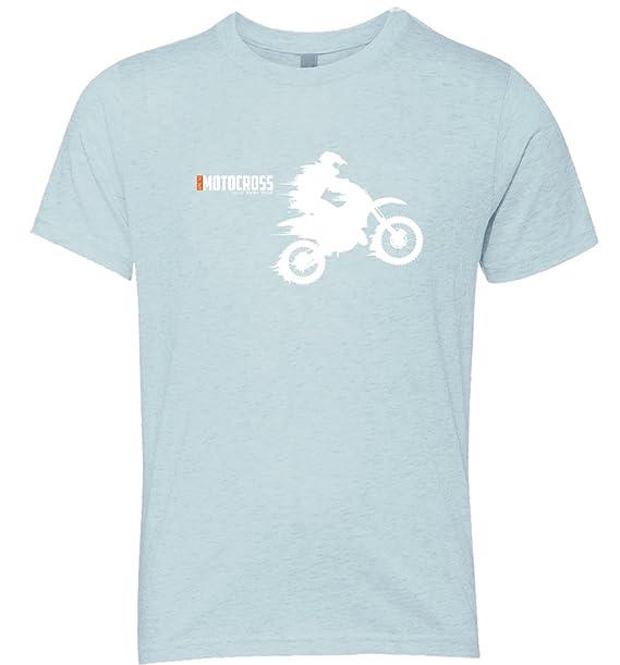 0169bd10 Amazon.com: Extreme Sport - Dirt Bike Motorcycle - Soft Style Short Sleeve  Graphic Kids T-Shirt: Clothing