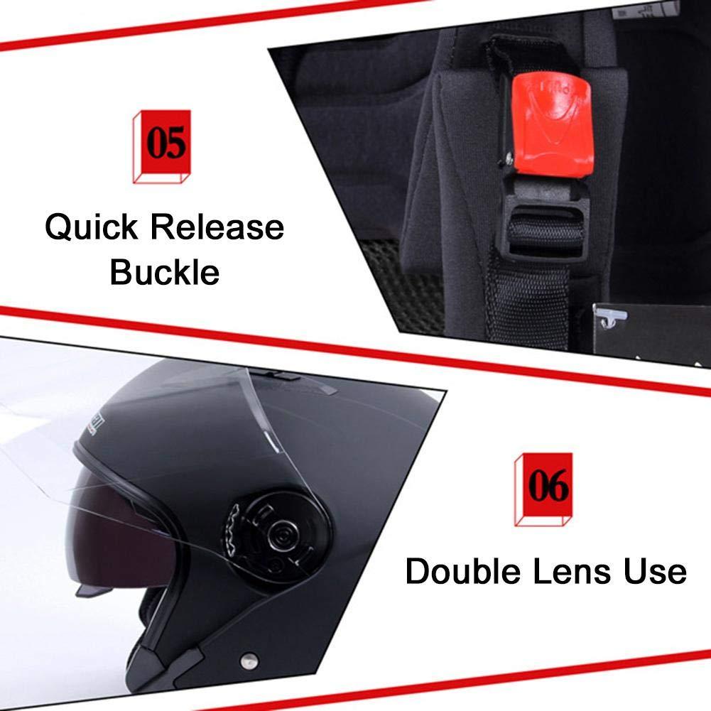 WUYANSE Casque de Moto Double visi/ère basculante Casque int/égral modulable Casque Anti-bu/ée Toutes Saisons 2XL L//XL Noir Mat//Bleu//Blanc