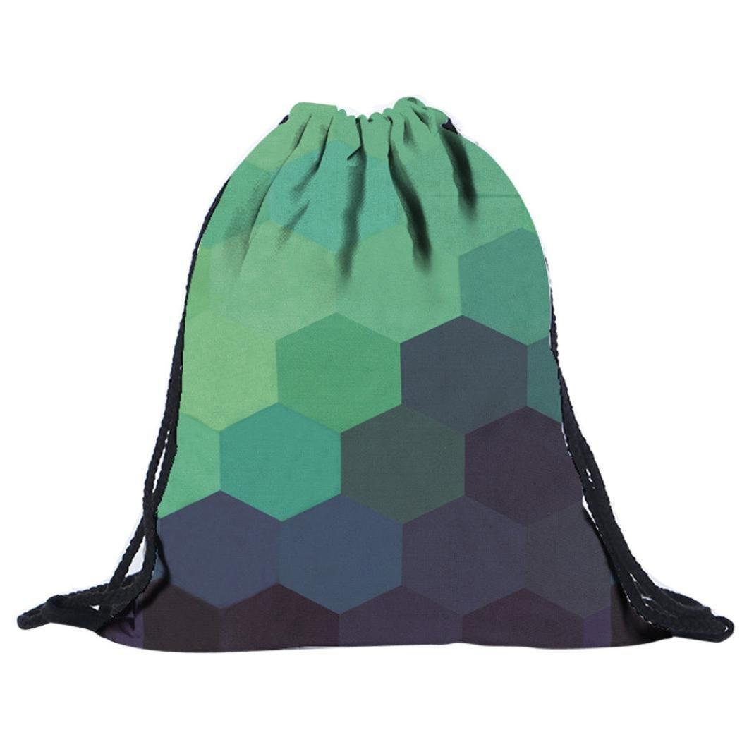 morral del lazo,Vovotrade pintada bolsas de impresión 3D mochilas morral del lazo (C): Amazon.es: Deportes y aire libre