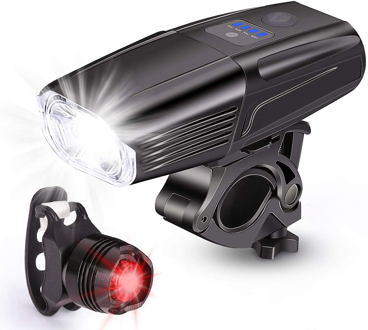 Rear Safety Flashlight DAN Waterproof 5 LED Lamp Bike Bicycle Front Head Light