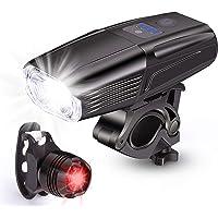 ODISTAR 1000 Lumen USB Rechargeable 2 LED Bike Light,IP65 Waterproof Bicycle Headlight with Smart Sensor and 50 Lumen…