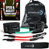 Kinetic Bands Speed & Agility Strength Training Kit (Leg Resistance Bands, Athletic Stretching Strap, FREE TRAINING DOWNLOAD) (Over 110 Pounds)