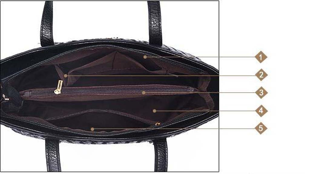 WOMEN'S BAG Sets Black 3 Pcs Purse Set Zipper For Casual All Seasons Blue Black Silver Fuchsia Wine (Color : Red)