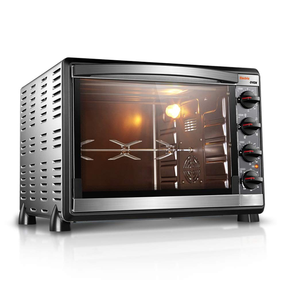 CMmin Home Countertop Toaster Oven,Includes Bake Pan,Broil Rack & Toasting Rack,2000 Watt,Convection Mini Multi-function Oven,Independent Temperature Control,Silver