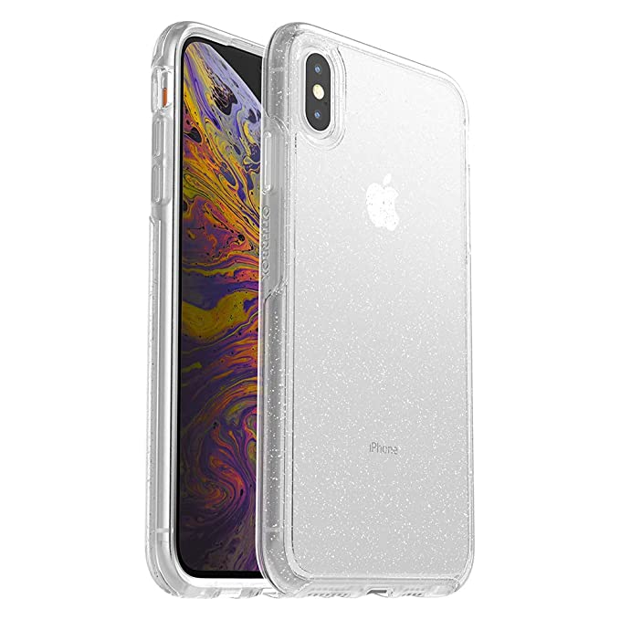 sale retailer 817a9 74304 OtterBox SYMMETRY CLEAR SERIES Case for iPhone Xs Max - Retail Packaging -  STARDUST (SILVER FLAKE/CLEAR)