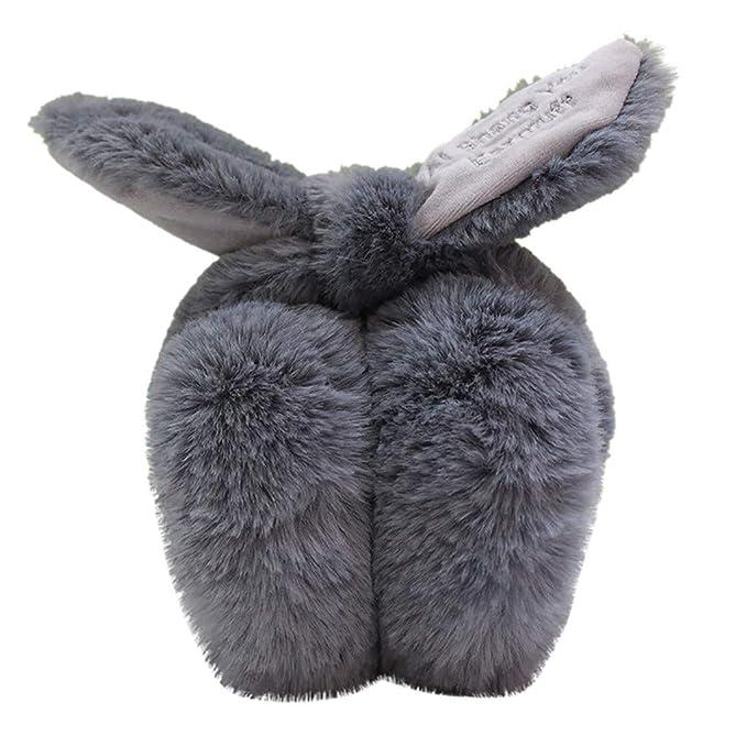 Barts Damen Ohrenschützer Ohrenwärmer Winter Fur Earmuffs Rabbit Weiss Grau