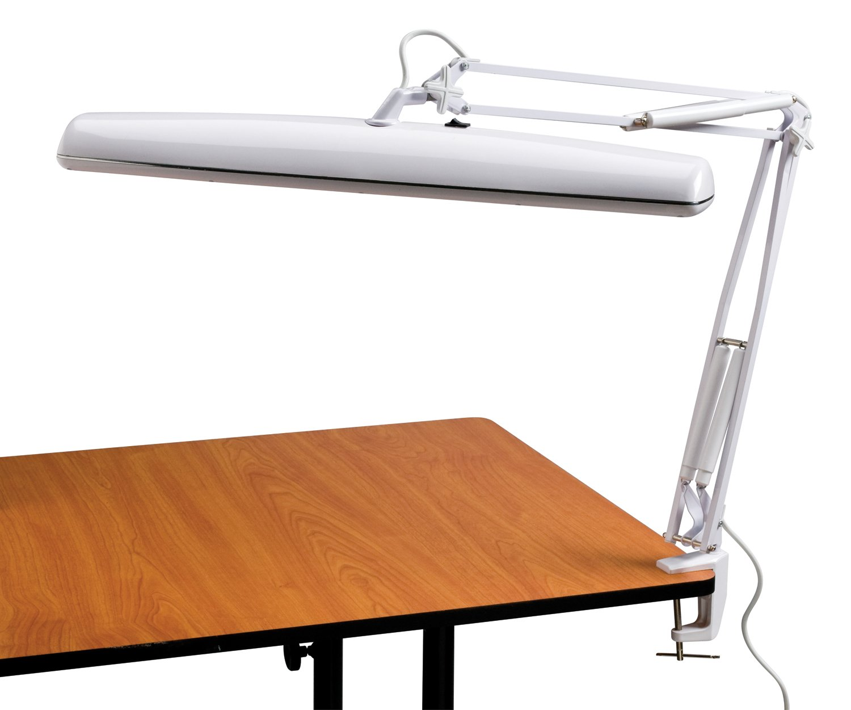 Alvin FL545-D Tri-Fluorescent Task Lamp White - Desk Lamps ...