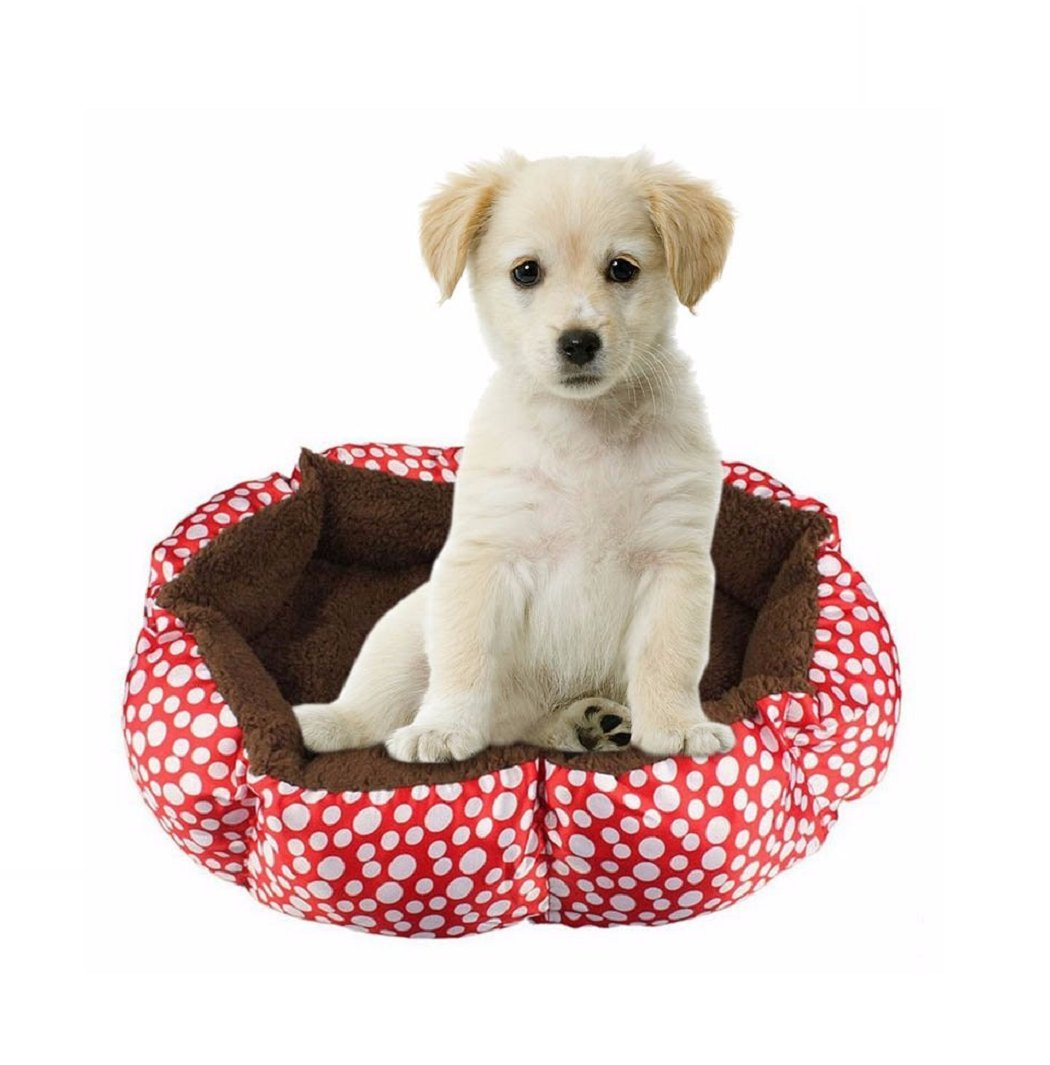 2017 Dogs Bed Dog Cage Extra Large Cama Perro Kennel Soft Sofa Cama Pet Dog Cat Warm Bed Pet Dog Bed Sofa Puppy House Cat House (Red) : Pet Supplies