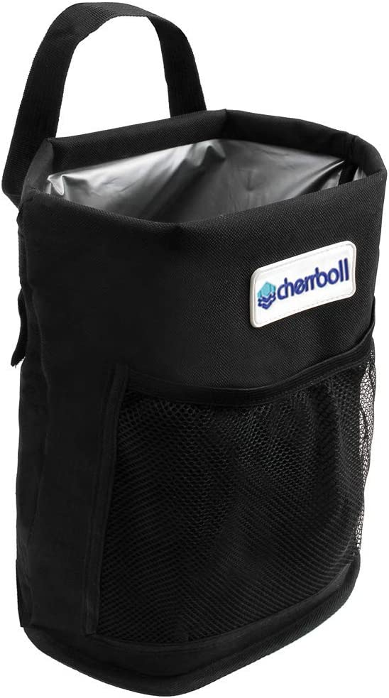 Foldable Leak-Proof Waterproof cherrboll Car Trash Bin Boat 3 Gallon for Automobile Truck Garbage Can Back Seat Organizer Storage Bag