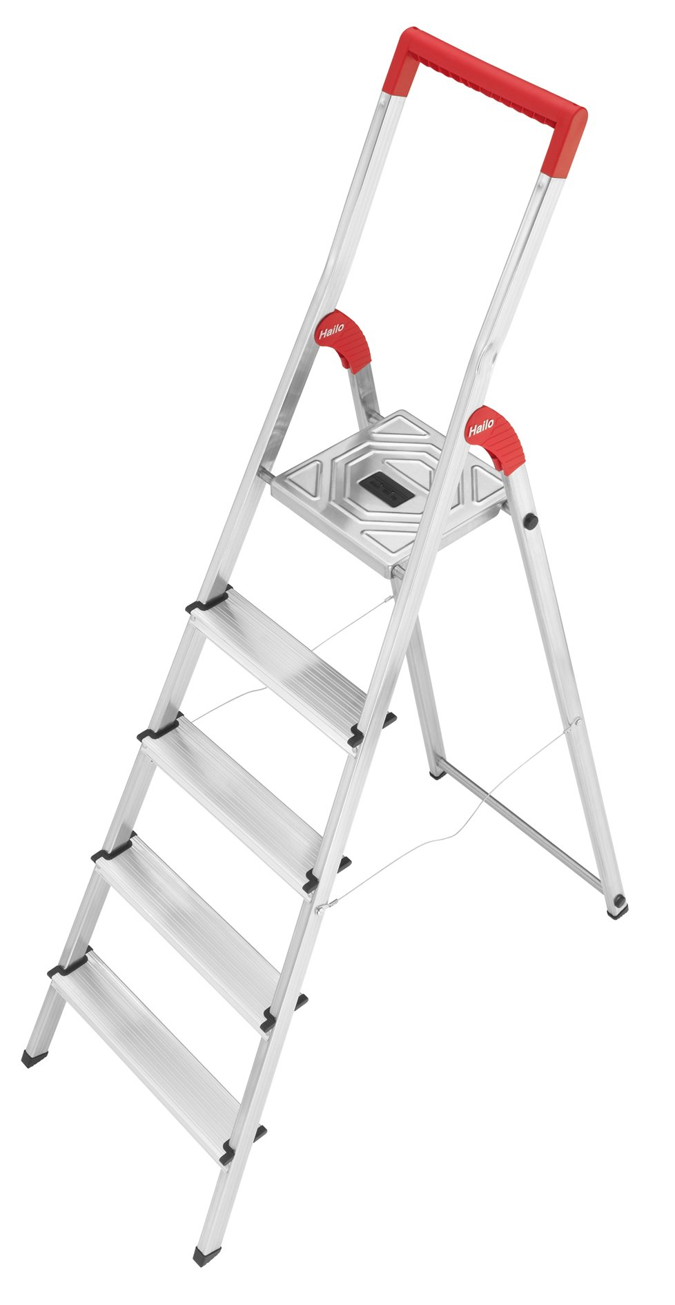 Hailo 8935-001 L50-Model 225-Pound Capacity ANSI Certified Aluminum Ladder, 6-Foot