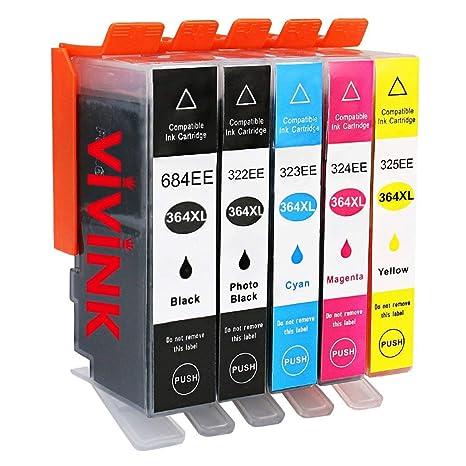 VIVINK 364XL Sustitución para HP 364 Cartuchos de Tinta ...