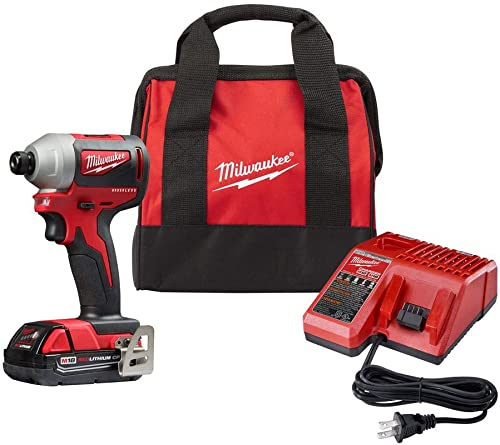 Milwaukee 2850-21P SB M18 Compact Brushless Cordless 0.25 Inch Impact Driver Kit with 1 Battery