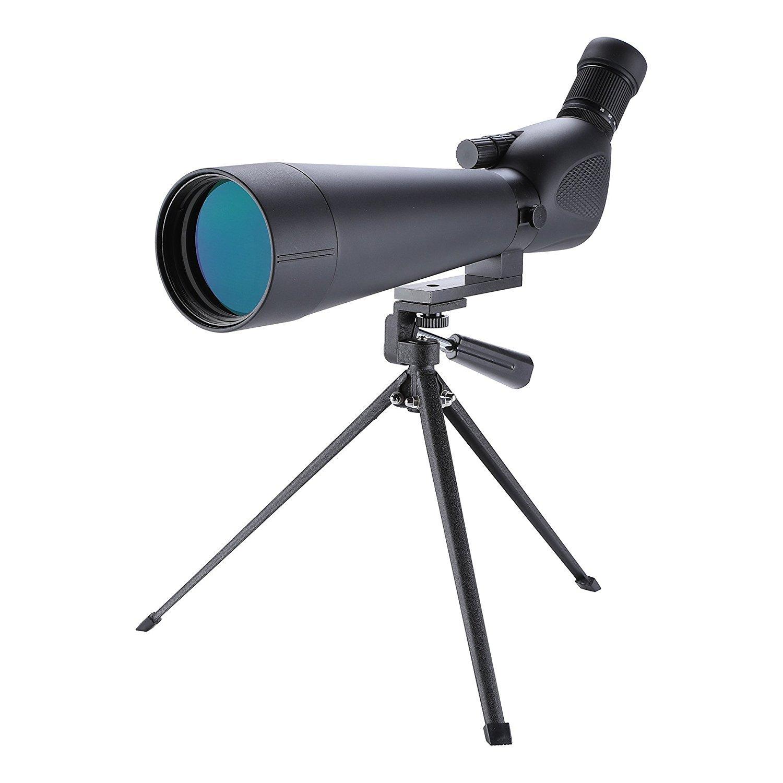 Hiram 20 - 60 x 80 Prisma Impermeable Telescopio de Observación de Aves Alcance para Observación de Pájaros Objetivo Tiro Arco para Actividades al Aire Libre SPS-0001-80