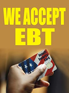 Amazon 3ftx4ft we accept ebt cards banner sign ebt accepted we accept ebt 18x24 business store retail signs colourmoves