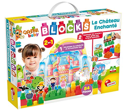 Enchanted Kit Castle - Lisciani Games–The Building of carotina The Enchanted Castle, 2in 1, Multicoloured, 68579