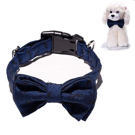 ALiYangYang Collar de Perro, Corbata de Lazo de algodón, Corbata ...