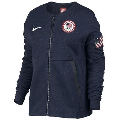 888fdd52e Nike Womens Team USA Tech Fleece Full Zip Jacket Shirt Navy (Large)