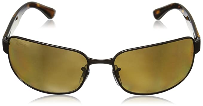 eb6247050f Amazon.com  Ray-Ban Men s Steel Man Sunglass Polarized Iridium Rectangular