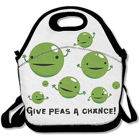 Xiisxin Give Peas A Chance - Bolsas de almuerzo de neopreno ...