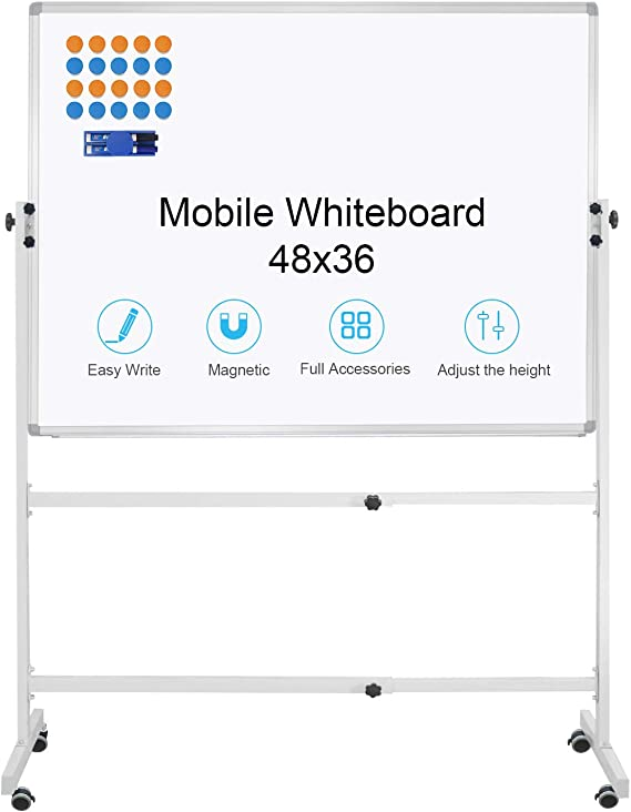Standing//Hanging Magnetic Whiteboard Board Dry Wipe Office Home School Notice