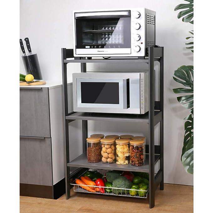 estante de la cocina_Placas de cocina piso de almacenamiento de ...