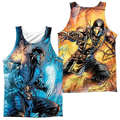 Trevco Tank Top: Mortal Kombat- Sub Zero Vs. Scorpion (Front/Back) Size ()