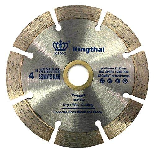 Kingthai 4 inch Segmented Diamond Blade for Concrete Masonry with 7/8-5/8
