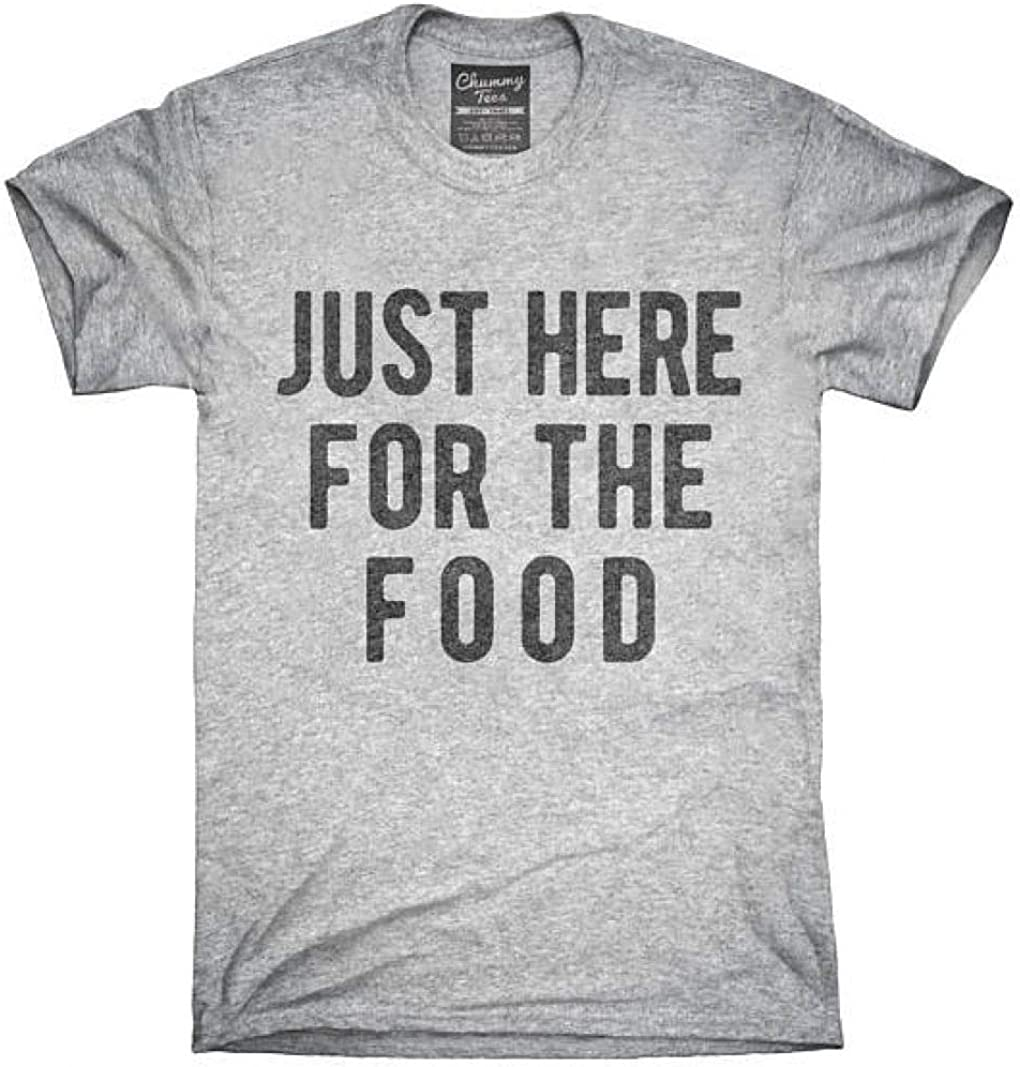 Teepink Just-Here-for-The-Food-T-Shirt-Tee-Tank