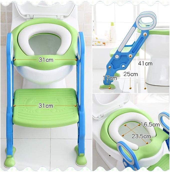 Adaptador Wc Niños, Reductor Portatil Orinal Infantil Ikea Baño Asiento Bebe Inodoro Antideslizante Plegable Escalera Ajustable Seguridad Viajes: Amazon.es: Bebé