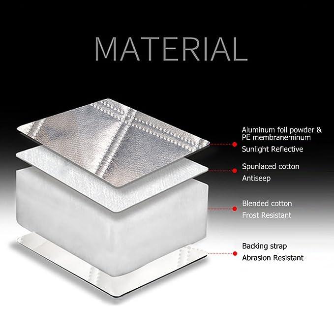 Parasol parabrisas - Funni protector parabrisas hielo cubre parabrisas magnético anti arañazos, material resistente a la intemperie, protege de hielo, ...