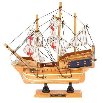 Retro Madera Estilo De Pirata Barco Juguete Modelo Perfeclan k0PwOn