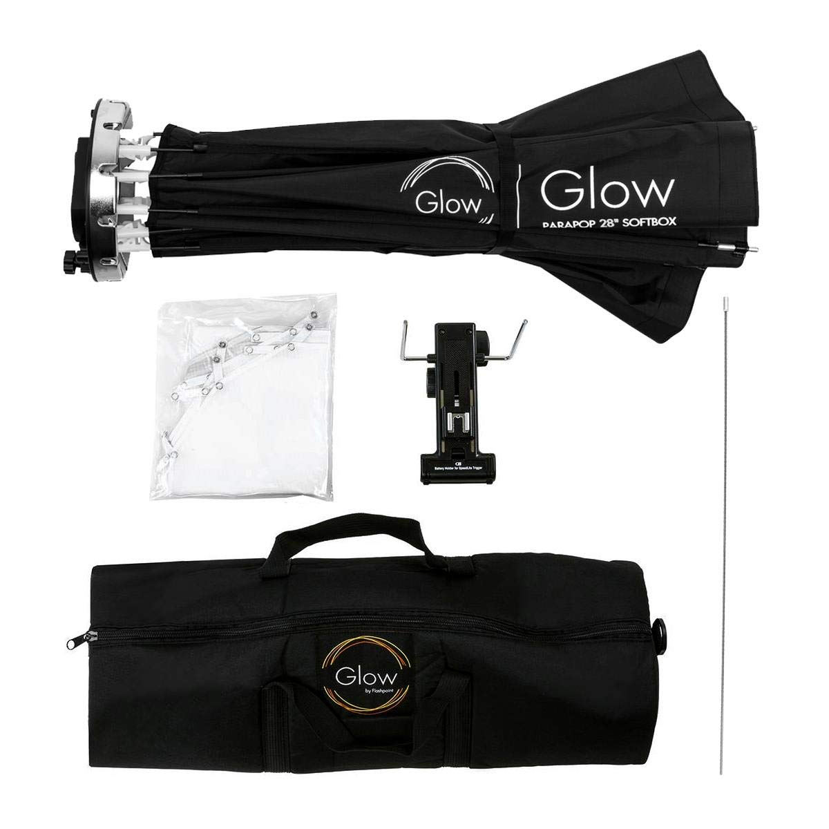 Flashpoint XPLOR 600PRO R2 HSS Battery-Powered Monolight Kit with Glow ParaPop and C-Stand. by Flashpoint (Image #8)