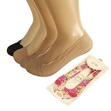 Lace Boat Socks, Moliker Ladies' No Show Invisible Pump Floral Lace Ballet  Socks Summer