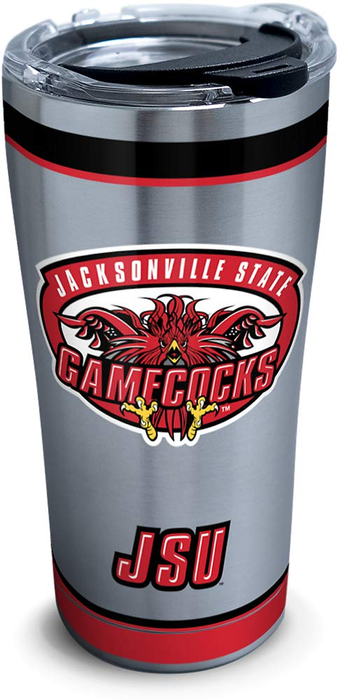 Tervis 1314178 NCAA Jacksonville State Gamecocks Tradition Stainless Steel Insulated Tumbler with Lid 20 oz Silver