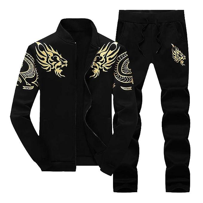 c5ef5856 BOOMJIU Men's Tracksuit Athletic Sports Casual Full Zip Sweatsuit at ...