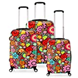 WindMax Colorful Floral Pattern PC Spinner Luggage (20/24/28 inch)