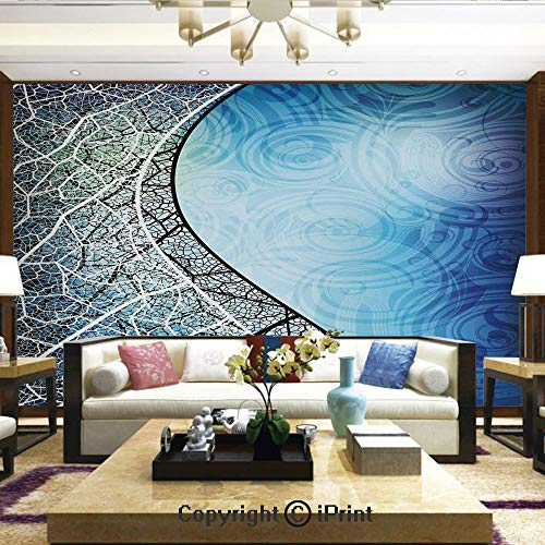 Lionpapa_mural Removable Wall Mural Ideal to Decorate Your Dining Room,Psychedelic Twisted Tree Branches with Ornate Spiral Lines Graphic Print,Home Decor - 100x144 inches (Ornate Hourglass)