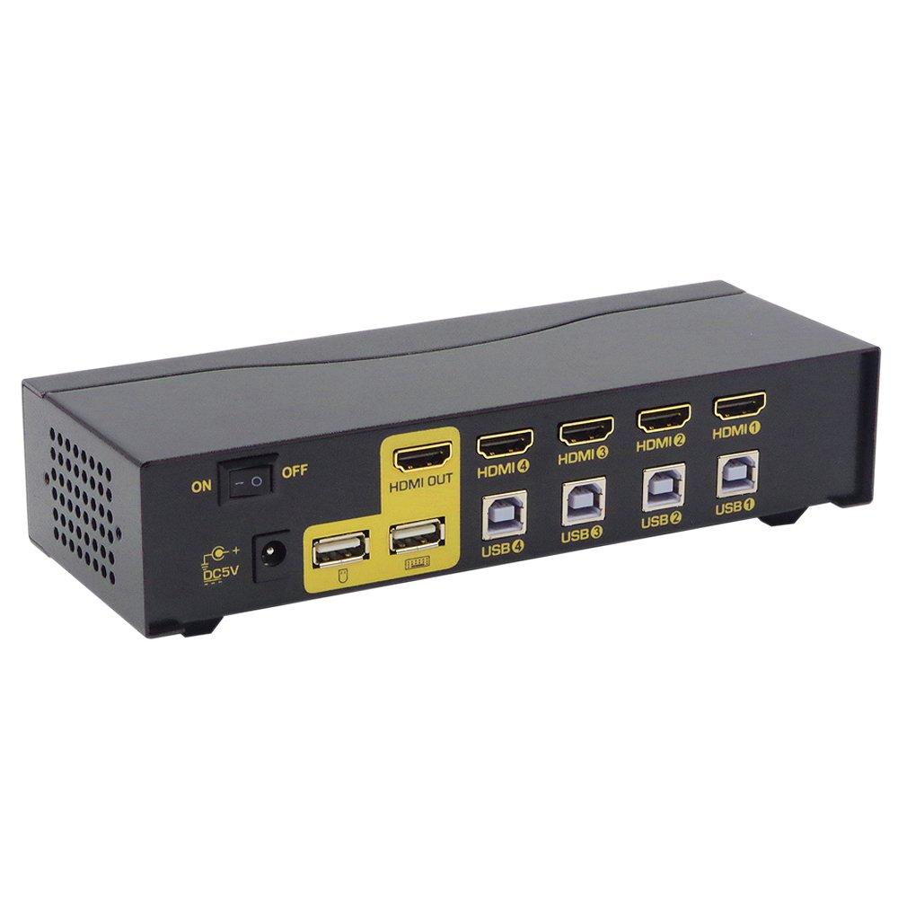 Computer-peripheriegeräte Pc Monitor Tastatur Maus Switcher Unterstützung Hotkey Auto Scan 1080 P 3d Ckl-94h Bequem Zu Kochen Ckl Usb Hdmi Kvm Schalter 4 Port Ohne Kabel