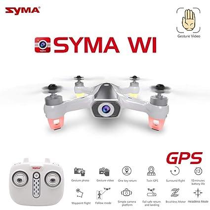 RONSHIN Drone W1 GPS Drone con 5G WiFi FPV 1080P Cámara sin ...